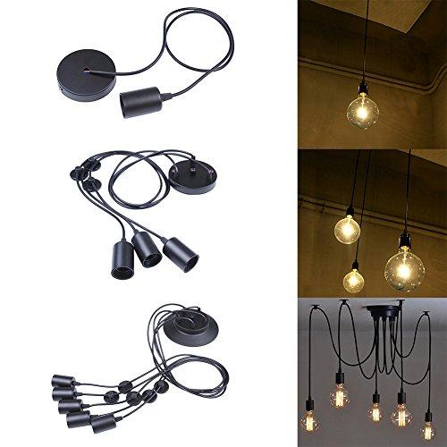 E27 Kronleuchter Pendelleuchten 1/3 / 5 Lichter Hängende Lampen Deckenbeleuchtung Vintage Industrial Edison Deckenleuchte