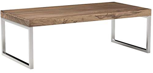 FineBuy Couchtisch Massivholz 120 x 60 x 40 cm Wohnzimmertisch