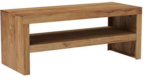 FineBuy Durban Massiv Couchtisch 110 x 45cm Massivholz Wohnzimmertisch