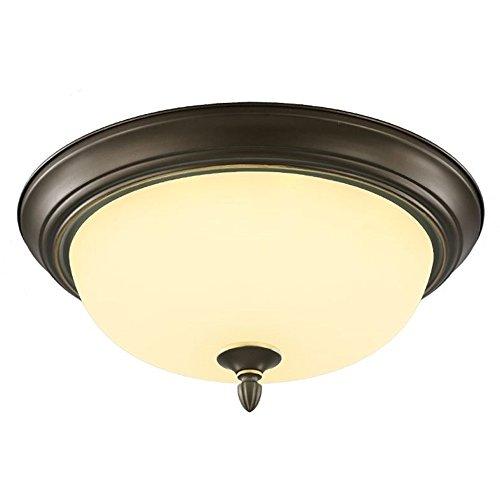 KJLARS Retro Rund Deckenlampe Wohnzimmer Deckenleuchte Küche Deckenbeleuchtung Schlafzimmer Vintage Lampe Glas Lampeschirm