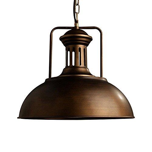 OYI Pendelleuchte Vintage Deckenleuchte Hängelampe mit Rustikalen Kuppel Schüssel Lampenschirm Höhenverstellbar Durchmesser für Restaurant Bar Coffee Esszimmer Küche