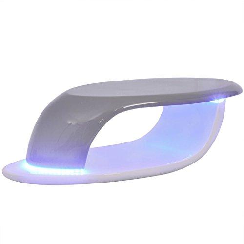 vidaXL Couchtisch LED Fiberglas Beistelltisch Wohnzimmertisch mehrere Auswahl