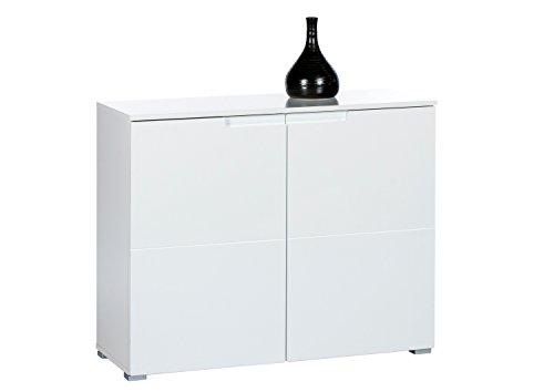 Avanti Trendstore - Spice - Kommode in weiß Hochglanz Dekor, mit 2 Türen, BHT ca. 100x80x40 cm