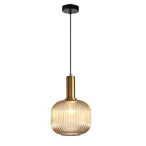 Belief Rebirth Moderne Weinlese-Kürbis-Glaspendelleuchte - Nordic kreative Deckenhängelampen Fitting for Arbeitszimmer Schlafzimmer Café Schmac Lampen Dekorieren - Durchmesser 20CM
