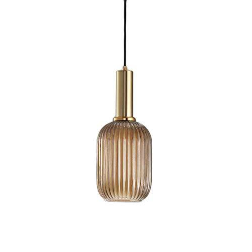 HJXDtech Industrial Vintage Klein Pendelleuchte Moderner Retro-Stil Drop Deckenleuchte Hängelampe Glas Lampenschirm mit poliertem Messing Lampenfassung