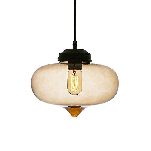 HJXDtech® Kronleuchter Vintage industriellen E27 Hängelampe aus Glas moderne Retro LOFT Bar Deckenleuchte Pendelleuchte Beleuchtung aufgehoben