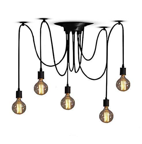 Industrie Einstellbare Pendelleuchte Beleuchtung Spinne Deckenleuchte E27 Rustikale Hängeleuchte für Esszimmer Bauernhof Hotel Dekoration