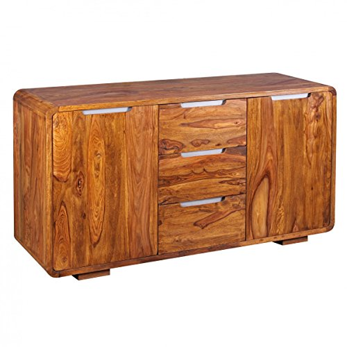 KADIMA DESIGN Sideboard Sheesham Massivholz Kommode 145 x 45 cm
