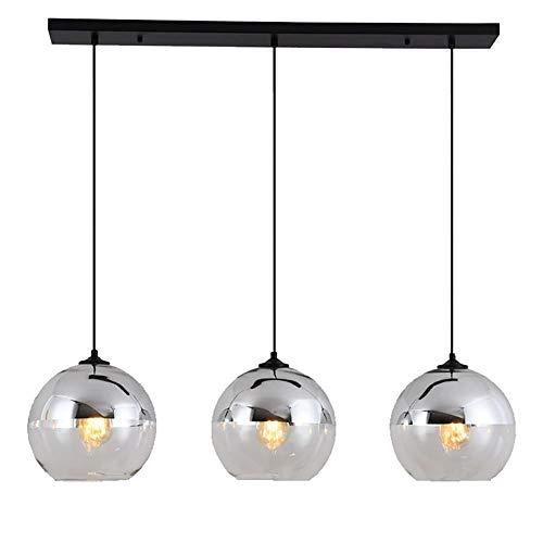 LED Modern Pendelleuchte, Glas Kreative Kronleuchter, Hochwertigem Innen Dekoration Hängelampe, Schön Wohnzimmer Leuchte Schlafzimmer Lampe Restaurant Lichter (3-Flammig)