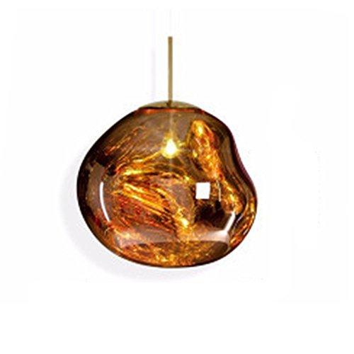 MZStech Moderne lampe unregelmäßige Form Glas Pendelleuchte Kronleuchter Licht LED Hängelampe
