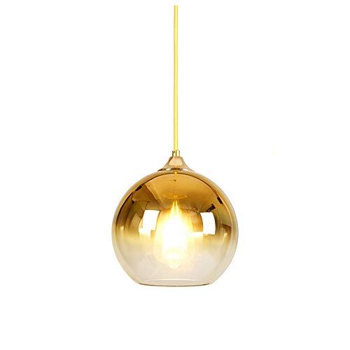 MZStech Sphärische Gradient Color Glass Pendelleuchte, moderne Glas Lampe basierend auf E27 Glühbirnen