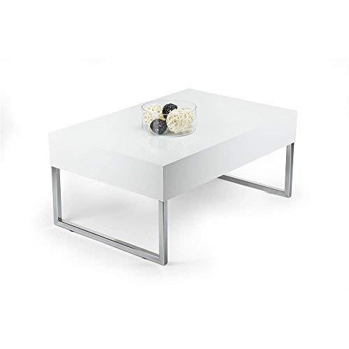 Mobili Fiver Evo XL Couchtisch, Holz, Weiß glänzend, 90x 60x 40cm