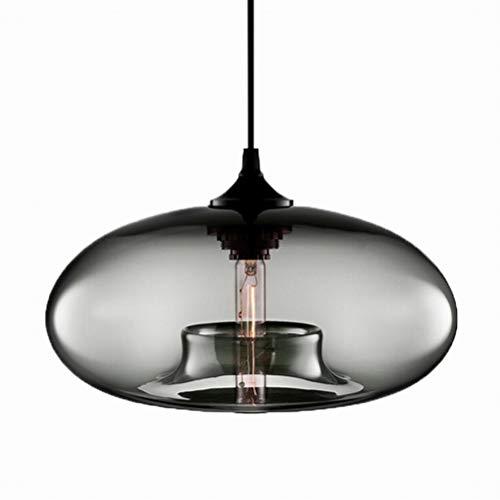 Moderne Hängende loft Grau Farbe Glas Glanz Pendelleuchte Industrielle Dekor Leuchten E27 220 V Küche Restaurant Wohnzimmer Schlafzimmer