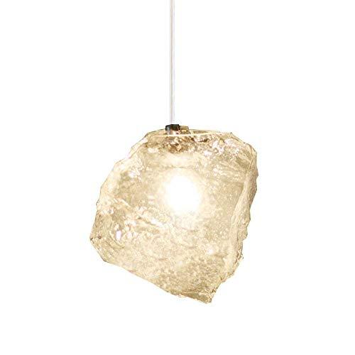 OOFAY LIGHT Nordic Kreative Ice Cube Chandelier Glaspendelleuchte für Restaurant Veranda Dinning Room Hotel dekorative Innenbeleuchtung