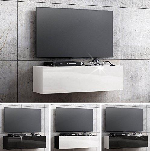 RODRIGO TV Lowboard Hängeboard TV Board Schrank mit Hochglanz 105 cm breit