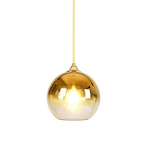 Rishx Moderne farbige klare Kugel-Glaspendelleuchte Droplight E27 LED transparentes Glas-Esszimmer-Restaurant-Decken-hängendes Licht-Innenhauptgeschäfts-Handelsdekoration-Suspendierungs-Beleuchtung