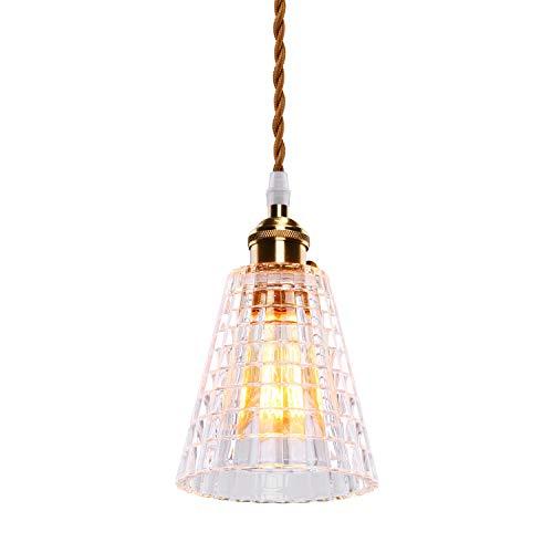 SISVIV Vintage Pendelleuchte Glas Industrie Hängeleuchte Retro E27 Hängelampe Kreative einzelne hängende Lampe für Wohnzimmer Restaurant Café Bars Hotel Hall usw.