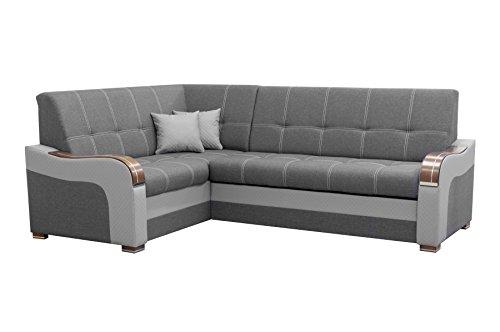 mb-moebel Ecksofa Eckcouch mit Bettkasten Sofa Couch L-Form Polsterecke Mekong