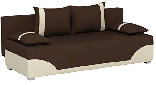 Bettsofa Schlafsofa Sofa Dario - Klappsofa mit Schlaffunktion und Bettkasten, Schlafcouch, Couch, Couchgarnitur, Sofagarnitur