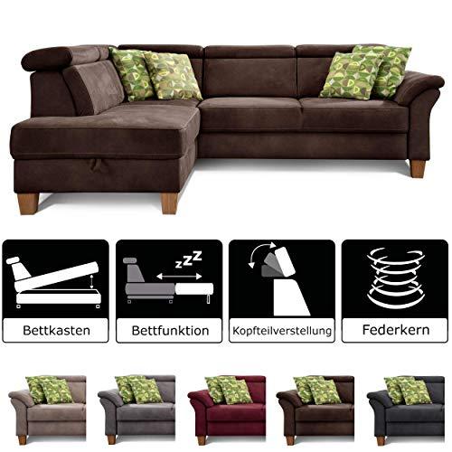 Cavadore Sofa mit Ottomane rechts / Federkern-Sofa im Landhausstil
