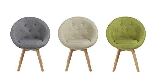 Duhome Stuhl Esszimmerstuhl Küchenstuhl mit Holzbeinen Sessel Retro Stoffbezug Farbauswahl 509G