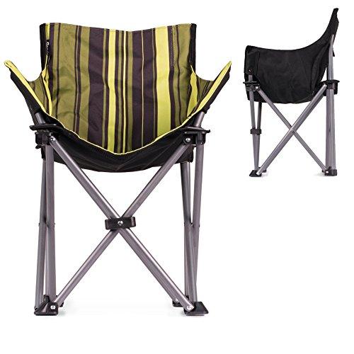 Retro Campingstuhl - gepolsteter Lounge-Sessel für EXTREMEN Komfort | Retro-Streifenmuster | minimales Packmaß | geringes Eigengewicht von nur 2,5Kg | ideal für die ganze Familie