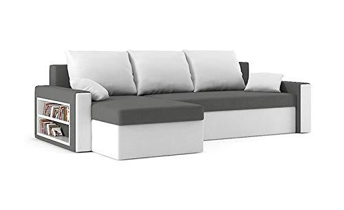 Sofini Ecksofa Drive mit Schlaffunktion! Best Ecksofa! Couch mit Bettkästen und Regalfach!