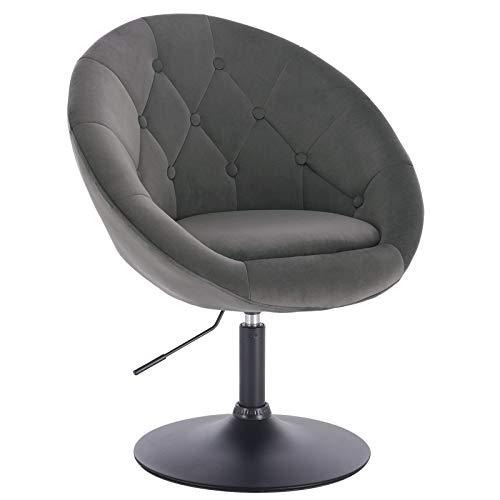 WOLTU® 1 x Barsessel Loungesessel mit Armlehne verchromter Stahl Kunstleder/Samt #826