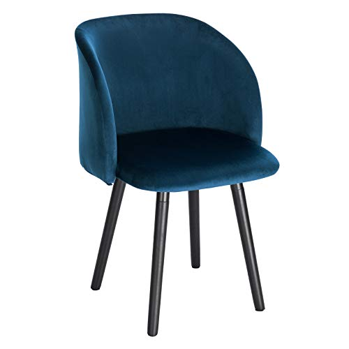 WOLTU Esszimmerstühle BH120-1 1x Küchenstuhl Wohnzimmerstuhl Polsterstuhl Design Stuhl mit Armlehne, Gestell aus Massivholz