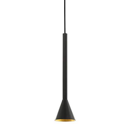 EGLO Pendelleuchte Cortaderas, 1 flammige Hängelampe Vintage, Industrial, Hängeleuchte aus Stahl in schwarz, gold, Esstischlampe, Wohnzimmerlampe hängend mit GU10 Fassung