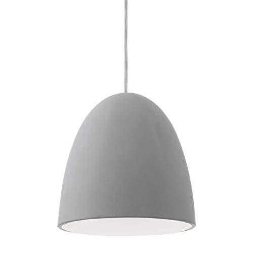 EGLO Hängeleuchte, Keramik, E27, Grau, 20.5 x 20.5 x 110 cm