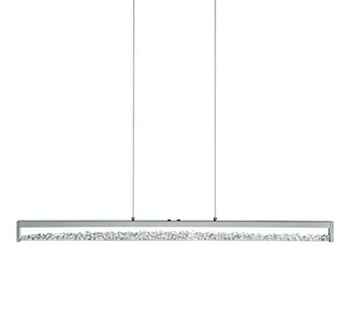 EGLO LED Kristall Pendellampe Cardito 1, 1 flammige Pendelleuchte, Hängeleuchte aus Aluminium, Stahl, Farbe: chrom, Glas: Kristalle klar, touch dimmbar, Weißtöne einstellbar