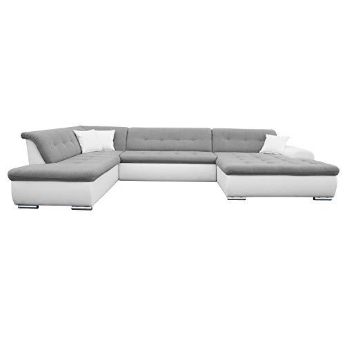 modernes Ecksofa mit Schlaffunktion Couch U-Form XXL Polsterecke, Couchgarnitur, Schlafsofa Victoro Big Sofa