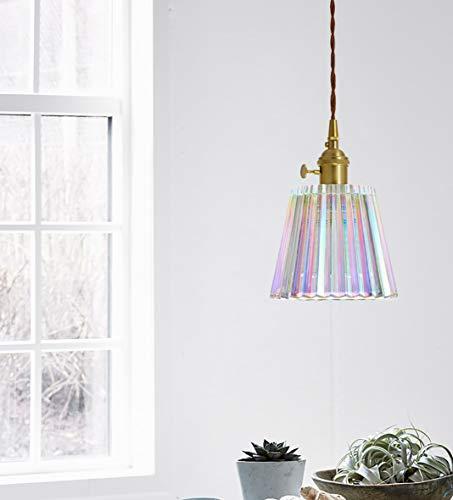 XODZASG Pendelleuchte,Vintage Hängeleuchte,Glas Hängelampe,für Küche Esszimmer Wohnzimmer,Mit E27 LED Birne