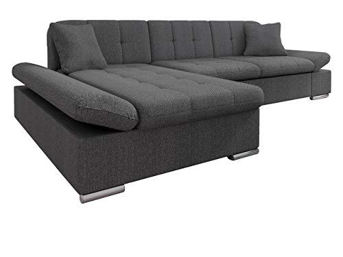 Mirjan24 Ecksofa Malwi mit Regulierbare Armlehnen Design Eckcouch mit Schlaffunktion und Bettkasten, L-Form Sofa vom Hersteller, Couch Wohnlandschaft (Boss 12, Ecksofa: Links)