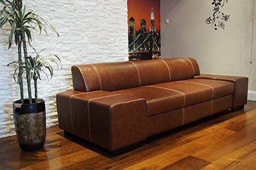 Quattro Meble Super Lange Echtleder 3 Sitzer Sofa London Breite 238cm Ledersofa Echt Leder Couch große Farbauswahl !!!